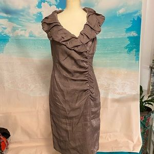 Adrianna Papell Boutique Ruffle Cocktail Dress